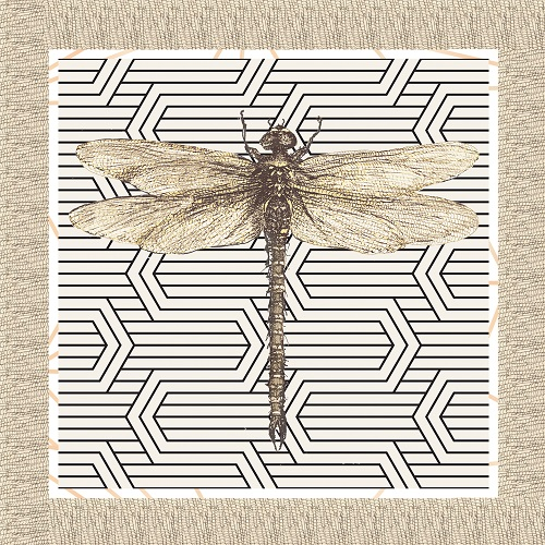 Nature - Dragonfly on Linen